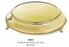 "Elegance Cake Plateau 18"" Round with 22"" Base Gold Finish"