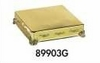"Cake Plateau Gold Finish 14"" Square"