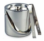 Elegance® Ice Bucket Double Wall Stainless Steel  with Tongs 1.5QT