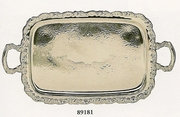 """Elegance Ashley Silverplated  Tray Footed with Handles 23"""" x 14"""""""