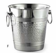 Wine Cooler Bucket Hammered Stainless Steel