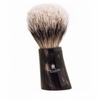 Vie-Long Silver Tip Badger Hair Shaving Brush, Horn Handle
