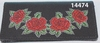 Leather Checkbook Cover  Roses Design