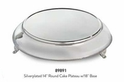 "Elegance® Silverplated 14"" Round Cake Plateau with 18"" Base"
