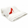 Bedroom Hand Towel  Embroidered  Red Pump Shoe
