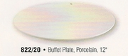 Porcelain Coupe Style Buffet  Plate 12""