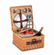 Picnic Plus Baxter Woven Willow  2 Person Picnic Basket
