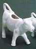 Cow Creamer  White Ceramic   6oz.