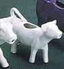 Cow Creamer White Ceramic 2oz