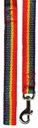 "Rainbow Nylon Leash 1""w x 1ft"