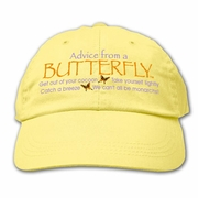 Ball Cap, Advice  from a Butterfly
