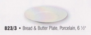 """Rim Style Porcelain Bread and Butter Plate 6-1/2"""""""