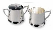 Elegance Silver Plated Cream and Sugar Set  Hotel Grade