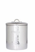 Cookie Jar Hammered Stainless Steel 4QT