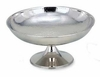 "Footed Bowl Hammered Elegance®  Stainless Steel  12""dia"