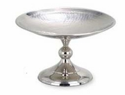 "Compote Elegance® Hammered Stainless Steel 6""dia"