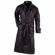 Giovanni Navarre® Italian Stone™ Design Genuine Leather Men's Trench Coat  XL  Only