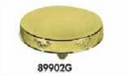 "Cake Plateau Gold Finish 18"" Round Roses Design"