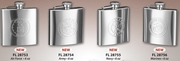 Flask 6oz. with Military Service Insignia
