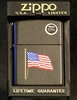 Zippo Lighter  Old Glory on Black Matte