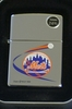 Zippo Lighter MLB Mets on High Polish Chrome