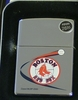 Zippo Lighter MLB Red Sox   on High Polish Chrome