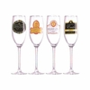 Luminarc Bistro Champagne Label Flutes  8oz  4/set