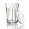 Luminarc Working Glass Tumbler with White Lid 21 oz   Set of 4