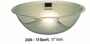 Wide Mixing Bowl Stainless Steel 13 QT