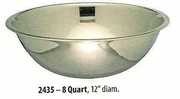 Wide Mixing Bowl Stainless Steel 8 QT