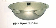 Wide Mixing Bowl Stainless Steel 5 QT