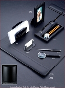 Black Leather II Desk Accessories Complete Set
