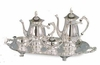 Elegance® Silverplate Romantica Pattern 5pc  Coffee and Tea Set