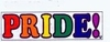 Gay Pride  Flexible Magnet  Rainbow PRIDE! 2.5�� x 9.25�� (Bumper Sticker Size)