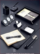 Black Leather Desk  Accessories