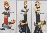 Biker Babes Bottle Toppers and Biker Dudes Bottle Hangers