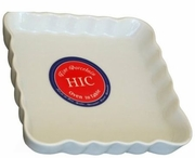 "HIC Quiche Pan, Square Porcelain  6-3/4"" x 1"""