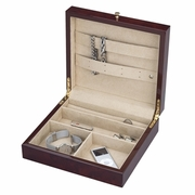 Reed & Barton Logan Men's Valet Jewelry Chest