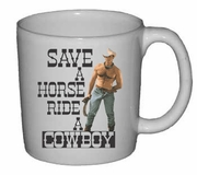 Save a Horse Ride A Cowboy Ceramic Mug