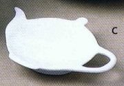 Tea Bag Rest Tea Pot Shape  Porcelain  6pc.