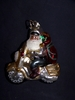 Police Santa Glass Ornament