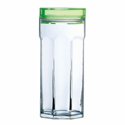 Luminarc Granity Glass Storage Jar with Green Lid 33.75oz