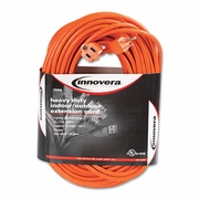 Innovera Indoor Outdoor Extension Cord, 100 Feet, Orange