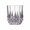 Cristal d'Arques Longchamp Old Fashioned  Glass Diamax  10.75oz  4/set