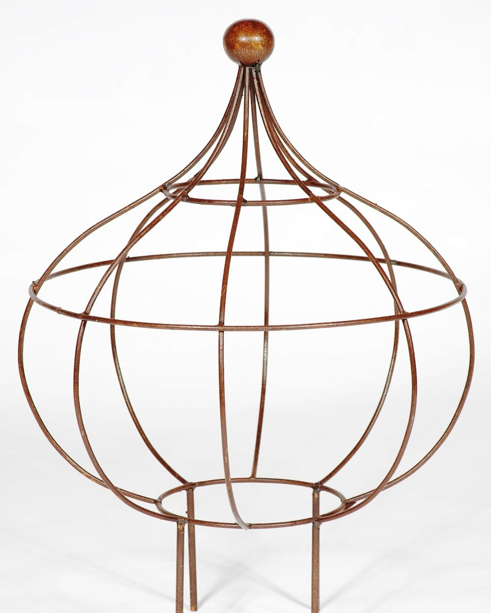 Wrought Iron Large Bob Topiary - Sphere Plant Support