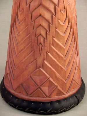 Chevron Carved