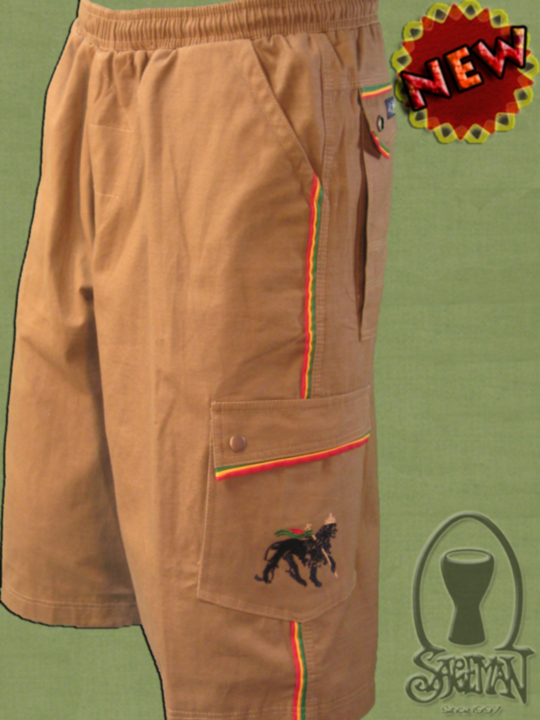 Cargo Short w/ Rasta trim