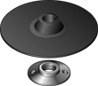 "Bosch MG0500 5"" Backing Pad With Nut"