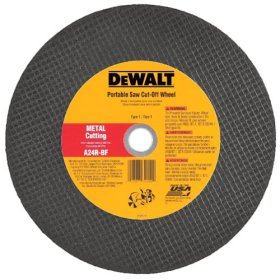 "Dewalt DW8022 12"" X 1/8"" X 1"" A24N Abrasive Metal Cutting Wheel"