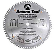 "Amana 610801 10"" 80T TC Fine Cross-Cut & Cut-Off Carbide Tip Saw Blade"
